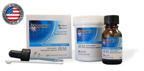 IRM Dental Polymer Reinforced ZOE Cement 50g Powder + 15ml Liquid - MARK3 -
