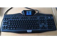 Logitech G19 Gaming Keyboard with LCD panel display