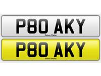 P80 AKY PRIVATE PLATE FOR SALE , CHERISHED PLATE 786 BOSS SINGH VIP DATELESS PLATE