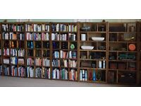 BOOKCASE run x5 pigeon-holes FREE DELIVERY BRIGHTON industrial rustic solid wood London gplanera
