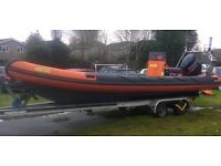 Humber Ocean Pro 8m Rib Suzuki DF250 outboard and trailer