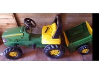 Rolly Kids John Deere Frontloader Tractor Trailer....Part built,needs finishing! Bargain!