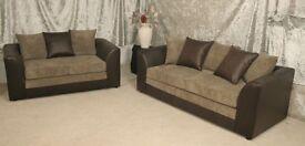jumbo cord byron sofa set 3 & 2 in camel brown