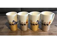 Set of 4 tall mugs
