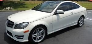 2012 Mercedes-Benz C-Class C250 - COUPE - AMG SPORTS PKG - WHITE