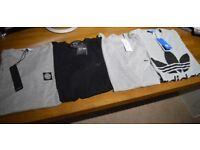 NEW Men's T-Shirt Bundle Size Medium Large ADIDAS ARMANI STONE ISLAND LACOSTE