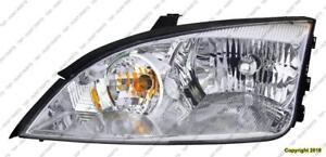 Head Light Passenger Side Exclude Svt Ford Focus 2005-2007