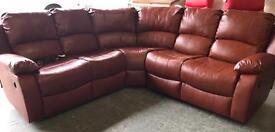Leather reclining corner