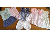 large 53 Item bundle of Baby Girl's clothes age 9-12 months