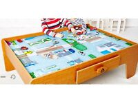 Big city wooden table for train set (excludes train set)
