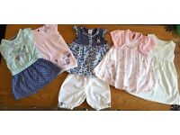 Large Bundle of Baby Girls Clothes Aged 9-12 Months