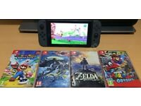 Nintendo Switch with games can post for extra