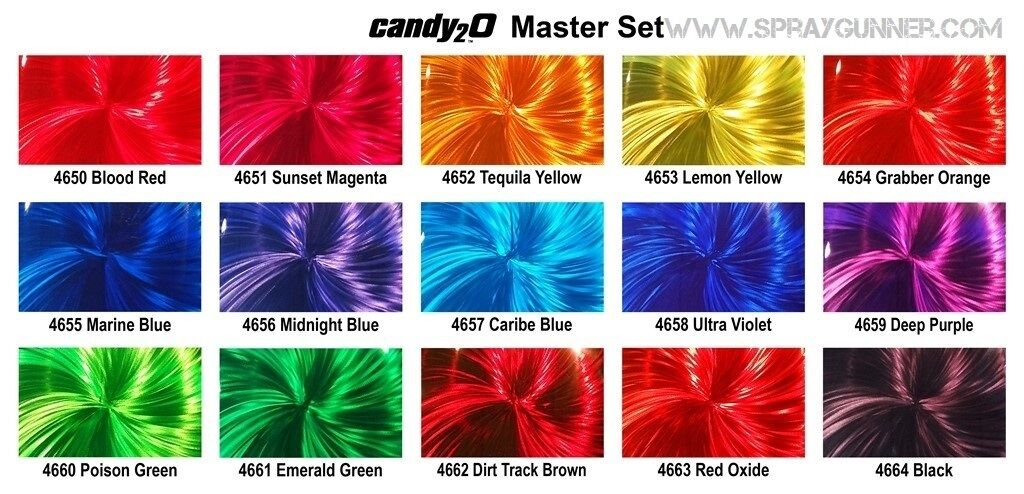 Auto-Air Colors 2oz. Candy2o Complete Master Set custom pain