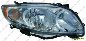 Head Light Passenger Side Base/Ce/Le/Xle  Toyota Corolla 2009-2010