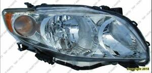 Head Lamp Passenger Side Base/Ce/Le/Xle CAPA Toyota Corolla 2009-2010