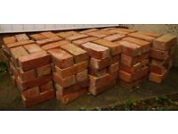 2nd hand bricks, warm orange, rough cut, ideal for bar-B-Q. about 150. Buyer collects