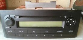 Fiat punto radio /CD player. As new - never used