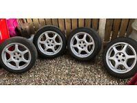 Alloy wheels from Subaru Impreza turbo 2000 16 inch with tyres