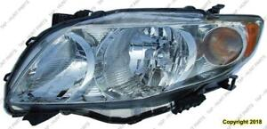 Head Lamp Driver Side Base/Ce/Le/Xle CAPA Toyota Corolla 2009-2010