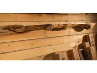 live edged seasoned beams ideal for stove mantles