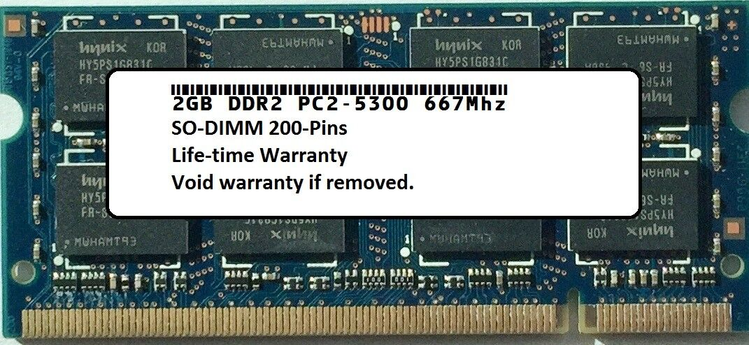2GB Module Laptop Memory PC2-5300 SODIMM for Acer Aspire 5517 New