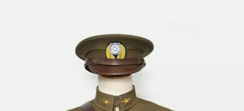 WWII China air force officer dress uniform visor hat all sizes avialable