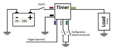 Delay Timer Time Relay 060 Minute 12v