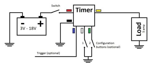 Delay Timer Time Relay 0~60 Minute 12V