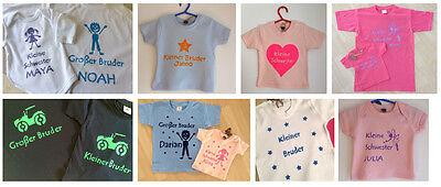 T-Shirt  GESCHWISTERSHIRT kleine GROßE Schwester kleiner GROßER BRUDER handmade, gebraucht gebraucht kaufen  Stuttgart