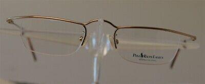 POLO RALPH LAUREN 435 Gold Brille Brillengestell Edelstahl HalbRand Damen Herren