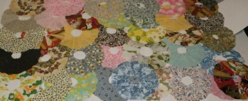 Vintage Dresden Plate Quilt Blocks Piecework Lot of 36 Very Nicely Sewn!