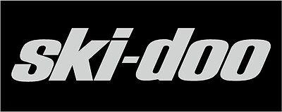 "SKI DOO *CHROME* 9"" DECAL Snowmobile Sticker MXZ Renegade Truck"
