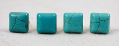 Turquoise Tie Tack 12x12 MM Square