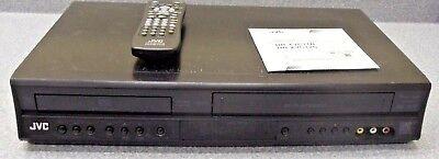 JVC DVD Player VCR VHS Recorder Combination HR-XVC11B w/Remote Manual on CD (B&w Vcr)