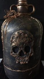 Large Steampunk Demi Jar, available with or without skull