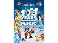 2 x tickets to Disney On Ice. Wembley Arena. April 1st.