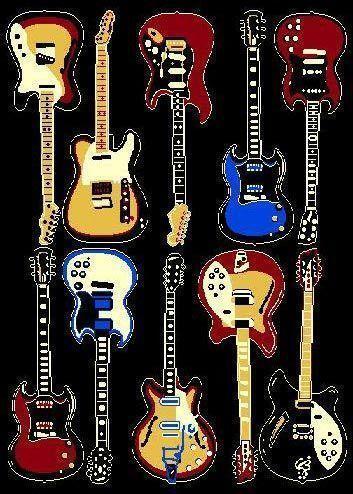 Guitar Rug Ebay