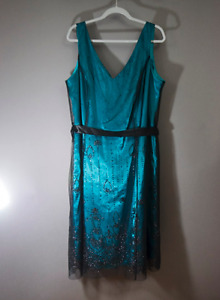 Teal Green Dress Plus Size 20W - Grad, Wedding, Dance