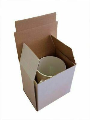 Gift Mug Boxes  Strong Cardboard Postal Postage Large 120 x 90 x 120mm,White,25