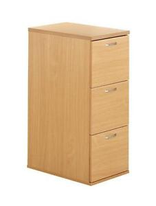 3 Drawer Wooden Filing Cabinets