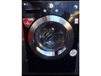 ++++ 8KG LG BLACK WASHING MACHINE INCLUDES 6 MONTHS GUARANTEE
