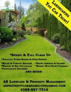 Now booking Lawn Maintenance & Property clean ups