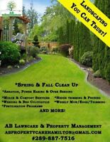 Spring clean up & weekly/Bi weekly/per visit lawn maintenance