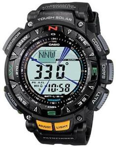 CASIO PAG240-1CR PATHFINDER SURVIVAL WATCH - SOLAR POWERED - ATOMIC ACCURACY - Great for Outdoor Adventures !