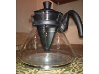 1.7 L Pour-Over Filter Coffee Maker Glass Jug Carafe with cone drip brewer & lid