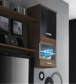 Wall Hanging Cabinet - black &brown
