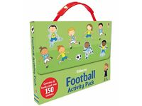 usborne football activity pack not used includes 4 books and over 150 stickers £7.50