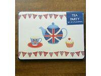 Union Jack Tea Party placemats.
