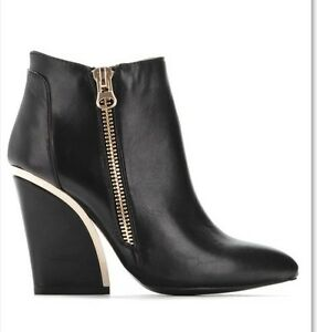 Stylish Black booties with gorgeous Gold accents Cambridge Kitchener Area image 1