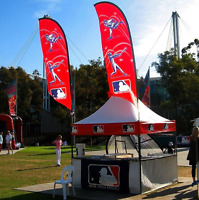 CUSTOM FLAGS AND TENTS FOR YOUR TEAMS!